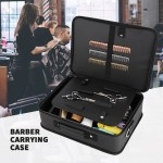 Segbeauty Barber Storage Organizer Bag 10.8 x 14.6in Hair Styling PU Leather Travel Makeup Toiletry Carrying Case