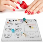 Segbeauty 2pcs Nail Art Stamping Mats DIY Silicone Workspace Stamping Plate Manicure Mat Washable Soft Table Cover Pad