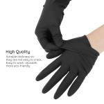 Segbeauty 20 Counts Thicken Hair Dye Gloves Black Reusable Hair Color Gloves Salon Rubber Gloves Hair Coloring Highlighting Accessories