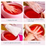 Segbeauty 200 Counts Hands Paraffin Wax Liners Extra Large XL Plastic Paraffin Wax Mittens Therapy Wax Refill Gloves Hand Heat SPA Bags