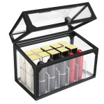 Segbeauty Lipstick Makeup Organizer 18 Slots Cosmetic Storage Box with Lid Beauty Transparent Dust-proof Cosmetic Holder