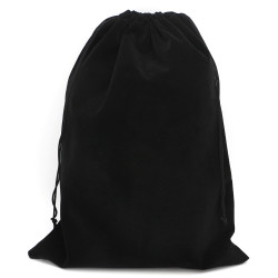 Segbeauty Hair Dryer Bag Storage Bag Stain Liner Drawstring Velvet Pouch Black Gym Bag Garment Organizer for Diffuser